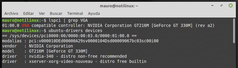 2 formas de instalar Drivers NVIDIA desde la consola en Ubuntu / Mint