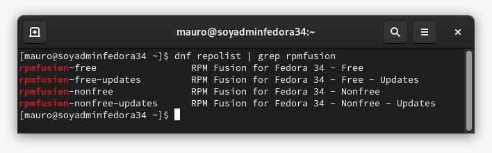 Instalar el Repositorio RPM Fusion en Fedora 34